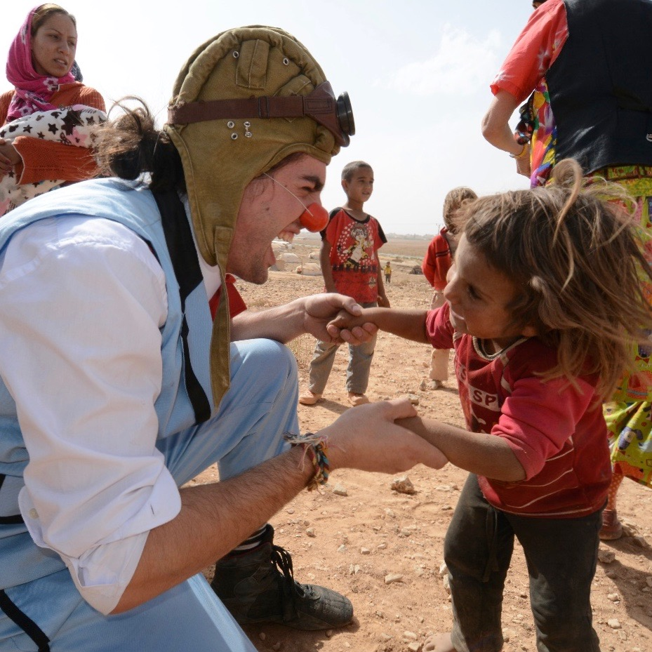 Guillaume Vermette Clown Humanitaire Jordanie Camps réfugiés syriens