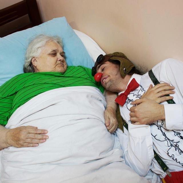 Guillaume Vermette Clown Humanitaire Russie, centre personnes en situation itinérance